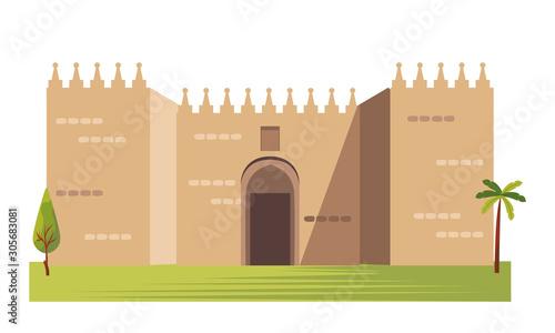 Obraz the gates of jerusalem architecture vector - fototapety do salonu