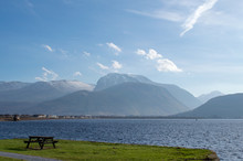 Bench With Ben Nevis In The Ba...