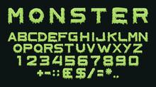 Monster Type. Vector Spooky Al...