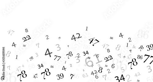 Cuadros en Lienzo numeri, nuvola di numeri, confusione, gruppo