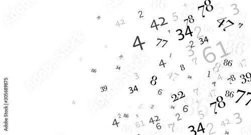 Fotografie, Tablou numeri, nuvola di numeri, confusione, gruppo