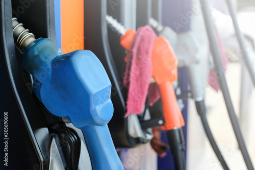Fototapeta  Color gasoline, diesel, pumps