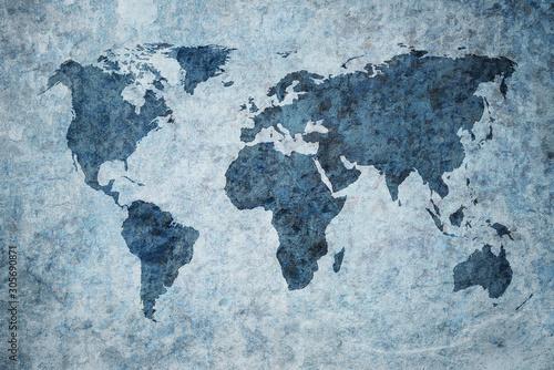 Fototapeta mapa świata   grunge-map-of-the-world