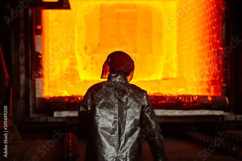Fotografie, Obraz Thermist at the heating furnace
