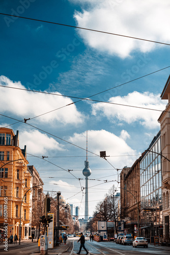 Photo BERLIN, GERMANY-March 11, 2018: Tv tower or Fersehturm