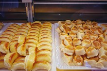 Assortment Of Marzipan In The Popular Bakery Of Santo Tome. Since 1856, All Sweets In The Bakery Have Produce By Handmade.