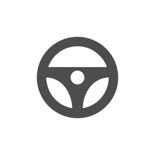 Steering Wheel Icon Vector Des...