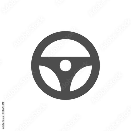 steering wheel icon vector design symbol Wallpaper Mural