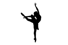 Ballerina Silhouette Isolated ...