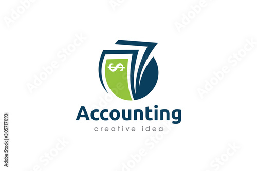 Fototapety, obrazy: Creative Accounting Concept Logo Design Template