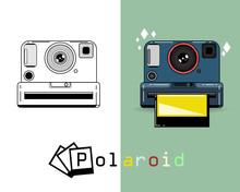 Polaroid Camera Vector Set Of Polaroid Logo