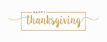 Happy Thanksgiving Lettering H...
