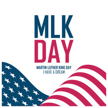 MLK Day Celebrate Card With Wa...