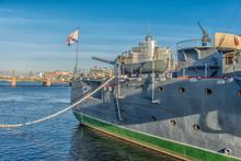 Museum Ship Aurora Cruiser. - ...