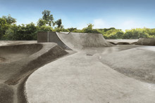 Empty Skate Park In The Daytime