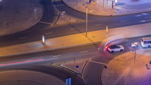 Aerial View Of A Road Intersec...
