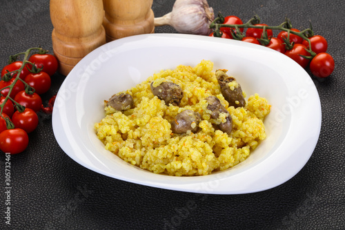 Photo  Rice with Chicken hearts