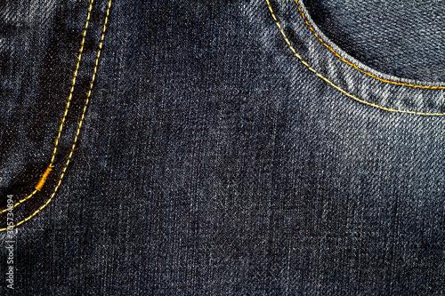 Fototapeta Black jeans fabric with pocket obraz