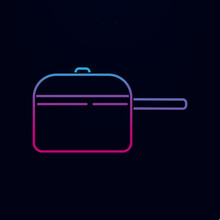 Cooking Pan Icons Nolan Icon. Simple Thin Line, Outline Vector Of Kitchen Icons For Ui And Ux, Website Or Mobile Application