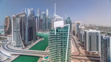 Aerial View Of Dubai Marina Re...