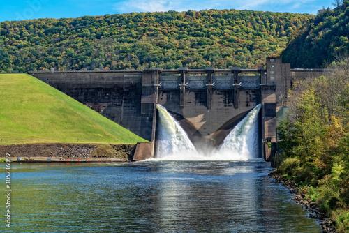 The Kinzua Dam In Pennsylvania Canvas Print