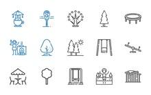Park Icons Set