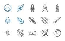 Astronaut Icons Set