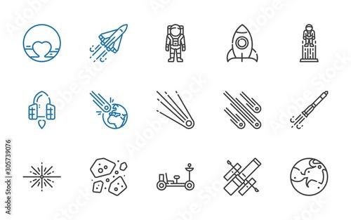Fotografía astronaut icons set