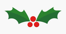 Christmas Holly Berries Icon.