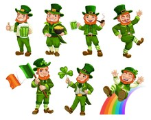 Leprechauns In Green Costumes ...
