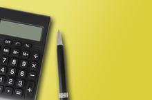 Top View Of Pocket Calculator ...