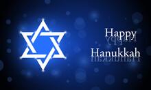Happy Hanukkah Greeting Card Vector Illustration.
