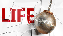 Falling Stock And Life - Pictu...