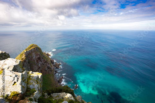 Fotografering Cliffs and cristal clear ocean view at Cape of Good Hope, South Africa