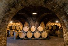 Wine Barrels In The Cellar, Sz...