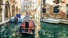 Venetian Gondolier Venice Italy.