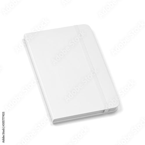 Blank notebook with elastic band closure mockup Billede på lærred