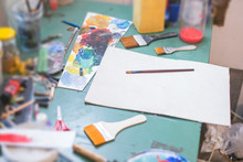 Messy Table At The Atelier