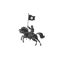 Napoleon With Flag