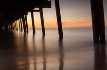 Sunset At Henley Beach With Pi...