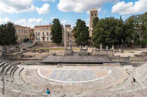 Obraz na plátně Roman amphitheatre in Arles, Provance, France
