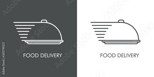 Leinwand Poster Servicio entrega de comida a domicilio