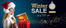 Winter Sale Message With Young...