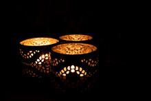 Three Ornamental Candles Burni...