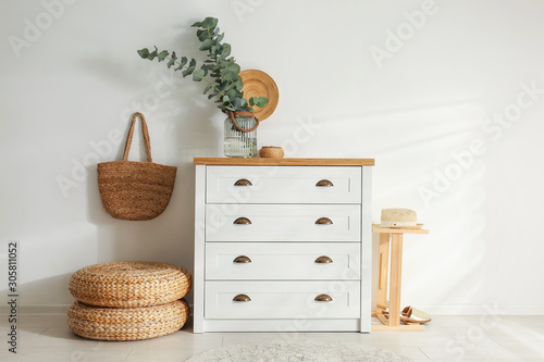 Fototapeta Chest of drawers in stylish room interior obraz