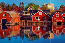 Red Houses In Village Scenic L...