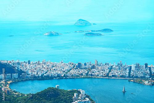Aerial view of Rio de Janeiro. Fototapet