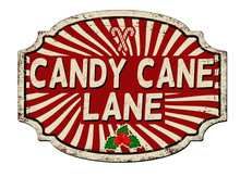 Candy Cane Lane Vintage Rusty ...