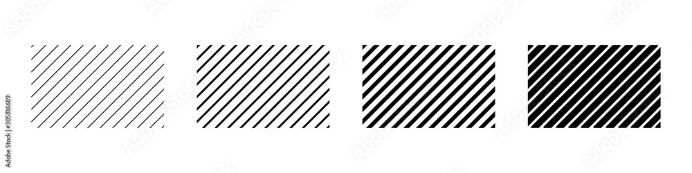 Fototapeta Set of diagonal line in abstract style. Vector grid geometric template. Abstract repeat background. Stripes pattern.
