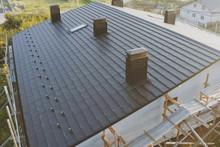 Dark Gray Roof Of An Industria...